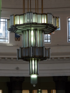 Light fixture in The Brotherton Library